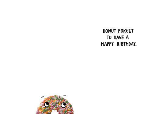 Rainbow Sprinkles Donut Funny Birthday Card