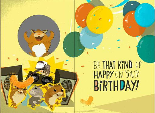 Dancing Hamster Musical Birthday Card With Motion,