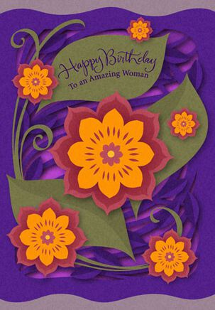 To an Amazing Woman Birthday Card