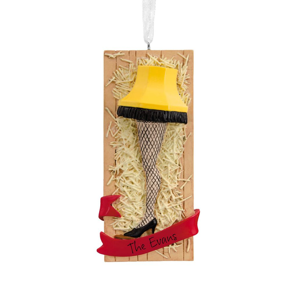 The Christmas Story Leg Lamp.A Christmas Story Leg Lamp Personalized Hallmark Ornament