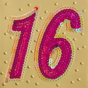 Sweet and Sequined 16 Birthday Card