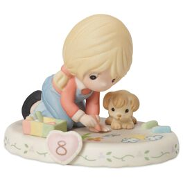 Precious Moments® Growing in Grace—Age 8 Blonde Girl Porcelain Figurine, , large