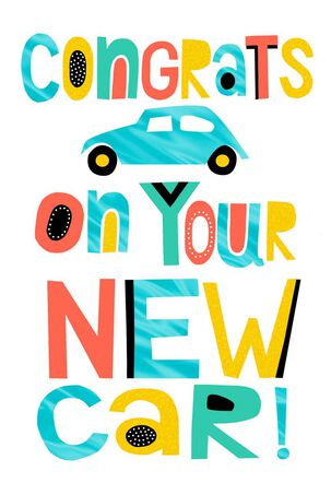 Shift Into Happy New Car Congratulations Card