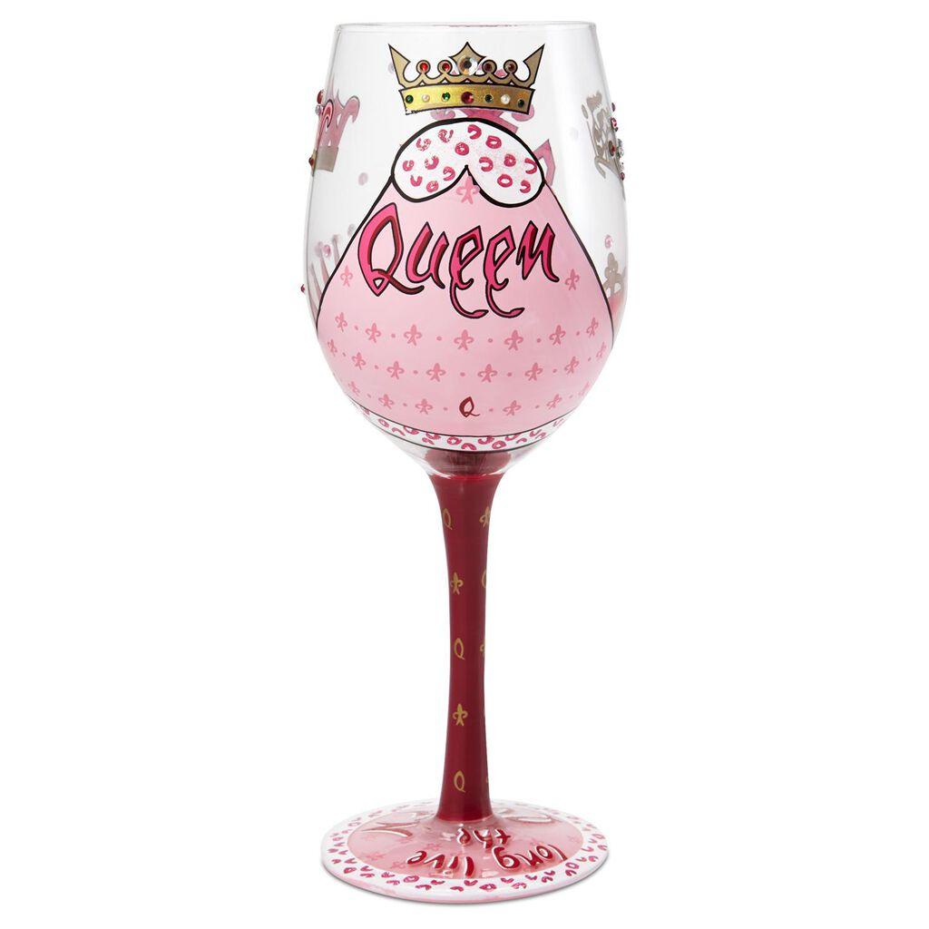 Lolita Wine Queen Handpainted Wine Glass 15 Oz Wine Glasses