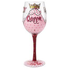 Lolita® Wine Queen Handpainted Wine Glass, 15 oz., , large