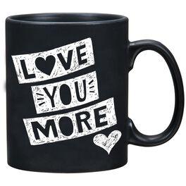 Primitives by Kathy Love You More Chalk Mug, 20 oz., , large
