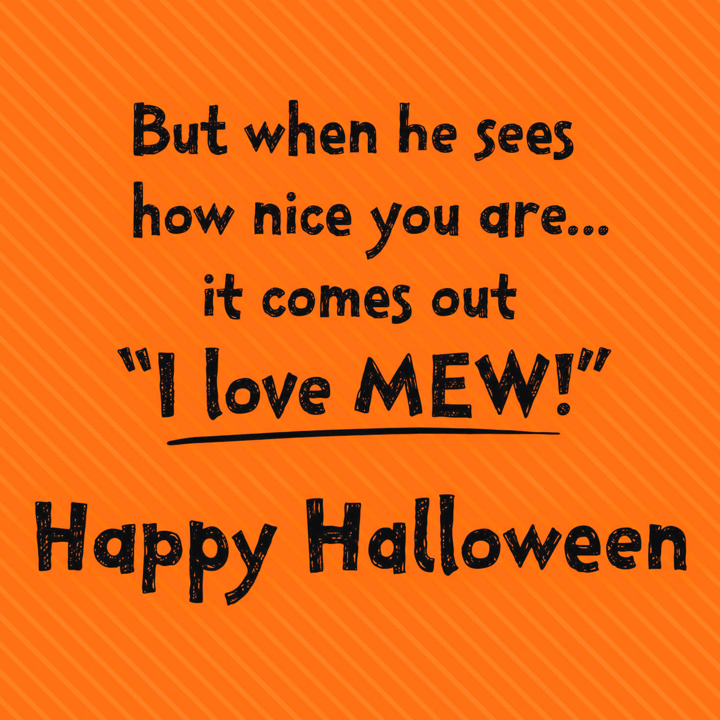 image regarding Printable Halloween Card identified as Boo! I Get pleasure from Mew! Mummy Cat Halloween Card