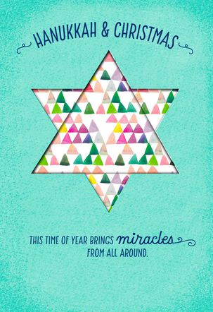 Hanukkah and Christmas Miracles Card
