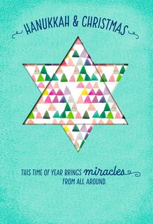 Hanukkah and Christmas Miracles Card,