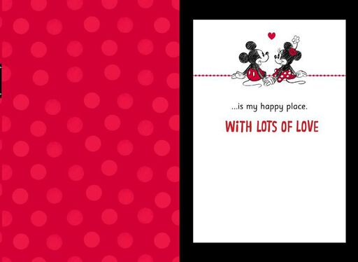 mickey and minnie my wife my happy place valentines day card
