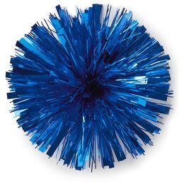 "Royal Blue Metallic Pom Pom Gift Bow, 7"", , large"