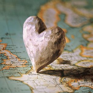 Heart in Paris Blank Card