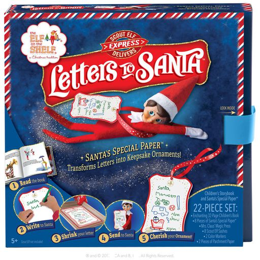 the elf on the shelf scout elf express delivers letters to santa kit
