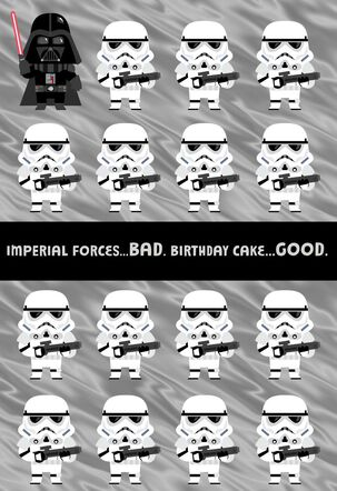 Star Wars™ Stormtrooper™ Good and Bad Birthday Card for Nephew
