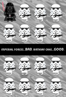 Star Wars™ Stormtrooper™ Good and Bad Birthday Card for Nephew,