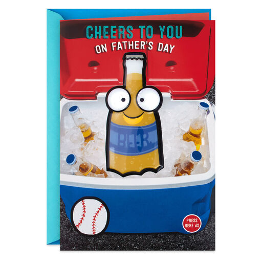 Talking Beer Funny Fathers Day Card With Sound And Light