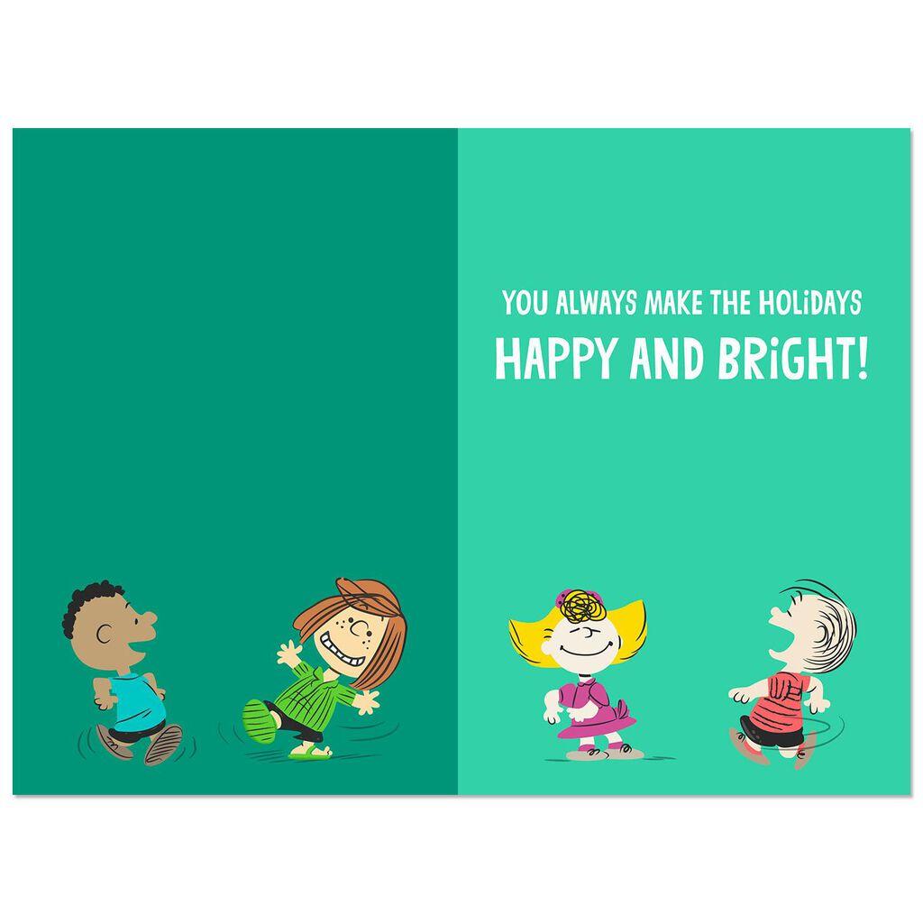Peanuts® Gang Dancing Musical Christmas Card With Light - Greeting ...