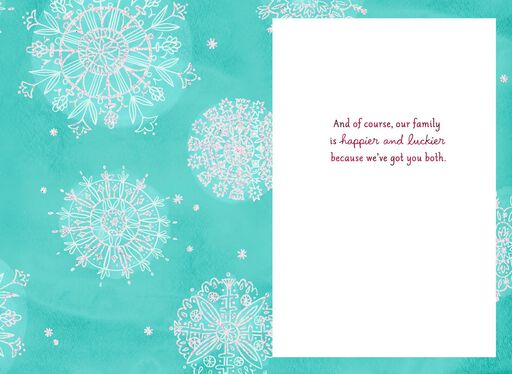 Daughter and Partner Christmas Card,
