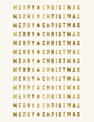 Merry Merry Blank Christmas Card