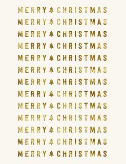 Merry Merry Blank Christmas Card,