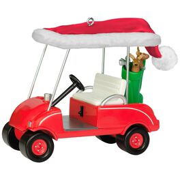 Ho-Ho-Hole in One Golf Cart Ornament, , large