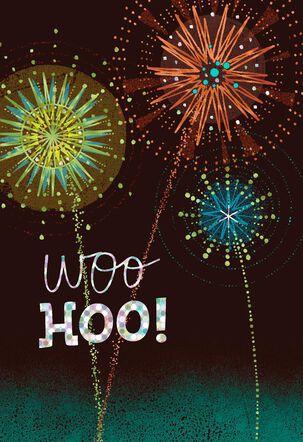Fireworks Woo Hoo! Congratulations Card