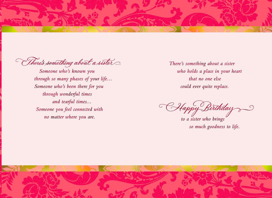 Theres Something About A Sister Birthday Card For Sister Greeting