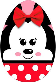 Minnie Mouse Egg Easter Card,