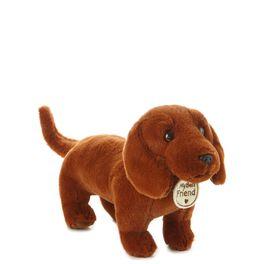 Red Short-Legged Dog Small Stuffed Animal, , large
