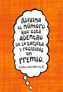 Guess the Number Funny Spanish-Language Birthday Card,