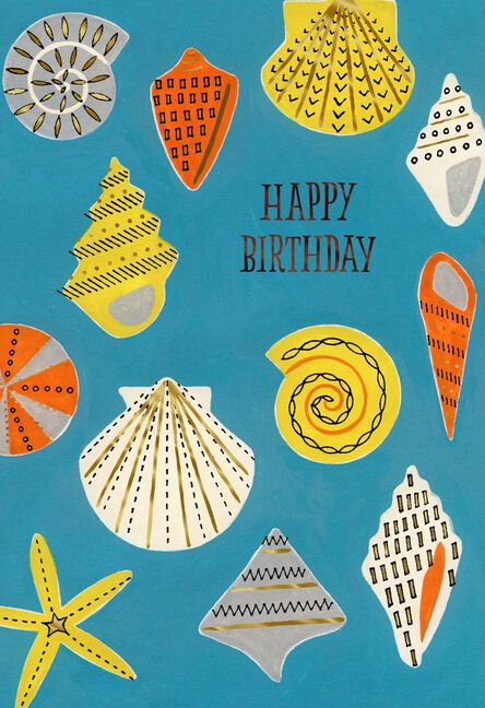 Colorful Seashells Just Like A Dad Birthday Card Greeting Cards