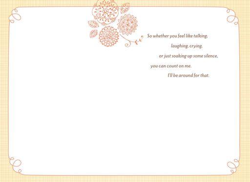 Flowers in a Vase Sympathy Card,