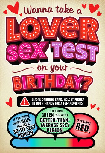 How Sexy Are You Romantic Birthday Card