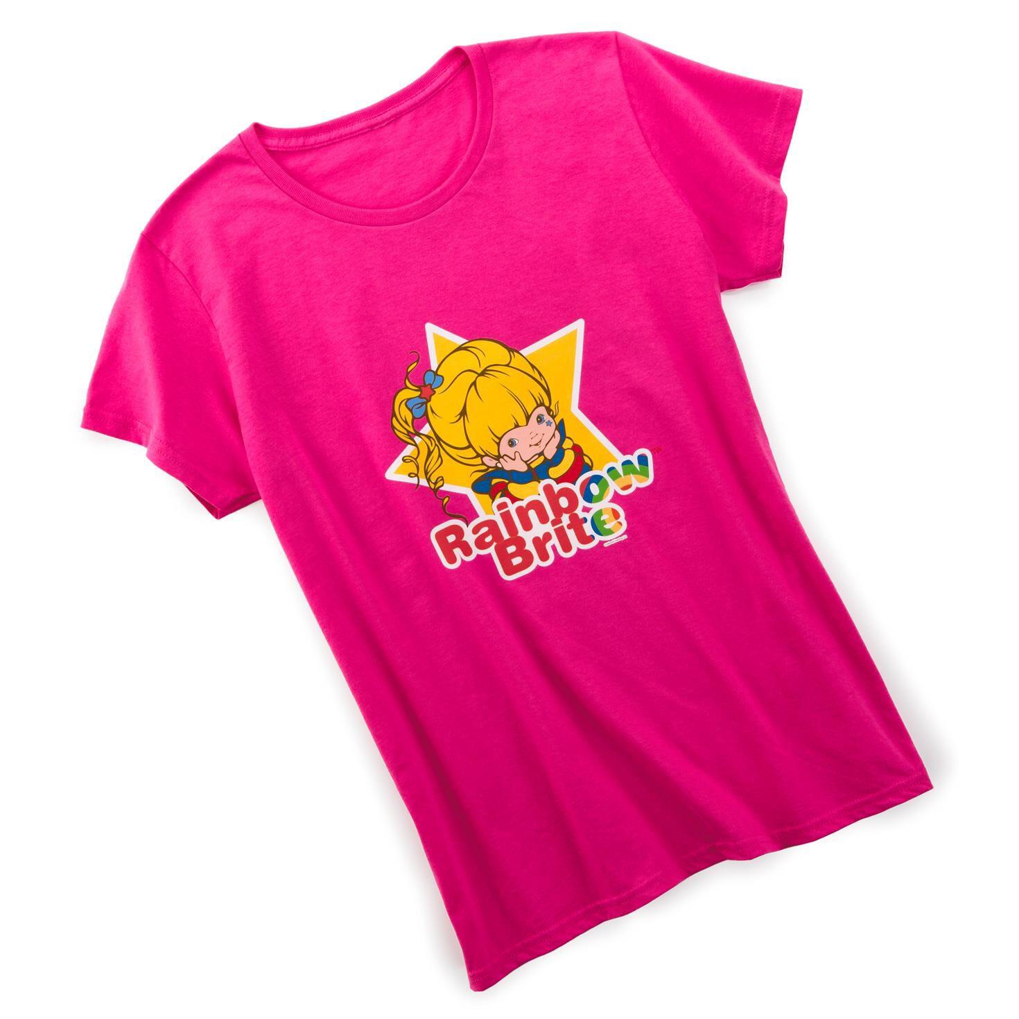 Rainbow Brite™ Women's Fitted Hot Pink T-Shirt - T-shirts - Hallmark