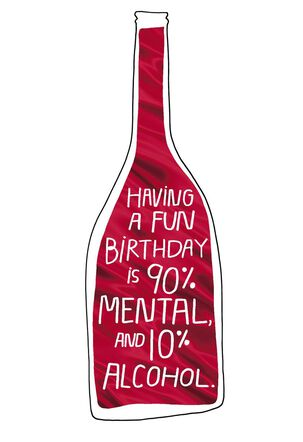 Attitude or Alcohol? Funny Birthday Card
