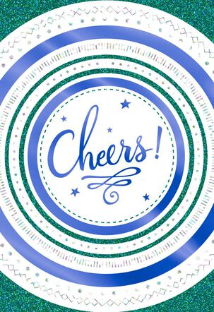 Cheers Blank Congratulations Card