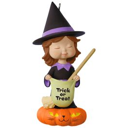 Sweet Trick-or-Treater Witch Mary's Angels Halloween Ornament, , large
