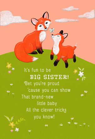 Two Foxes New Big Sister Card