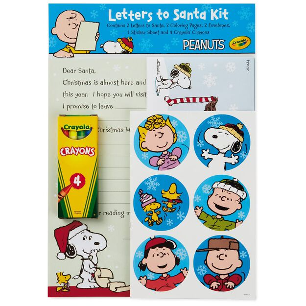 Peanuts and friends letter to santa writing kit designed peanuts and friends letter to santa writing kit spiritdancerdesigns Image collections