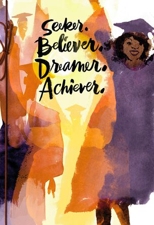 Believer and Achiever High School Graduation Card