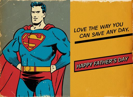 Superman™ You Save the Day Musical Father's Day Card,