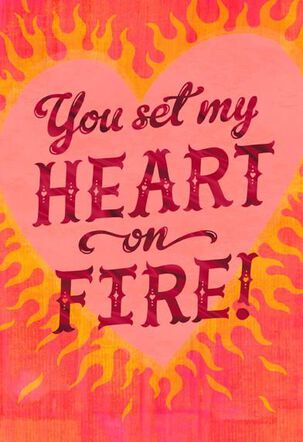 Fiery Hearts Disco Inferno Musical Valentine's Day Card