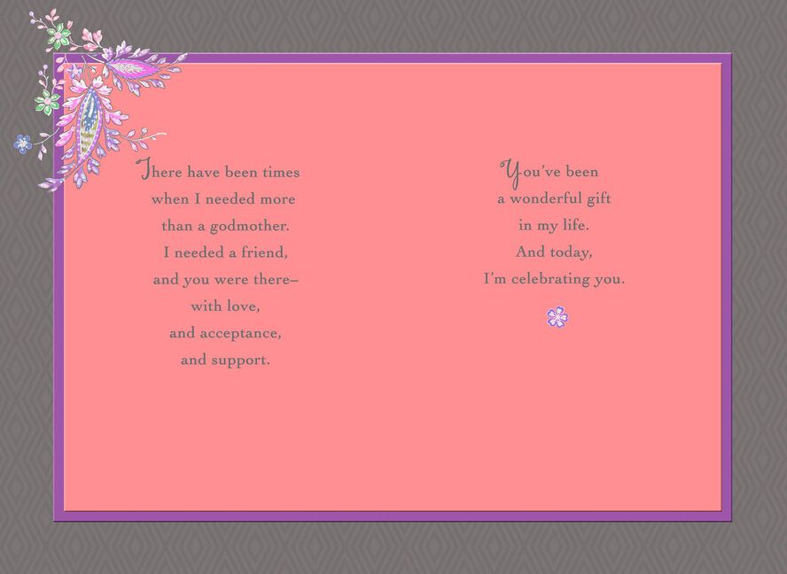 Pink Flowers Birthday Card For Godmother Greeting Cards Hallmark