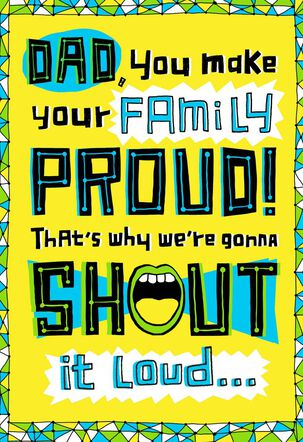 Shout Musical Father's Day Card