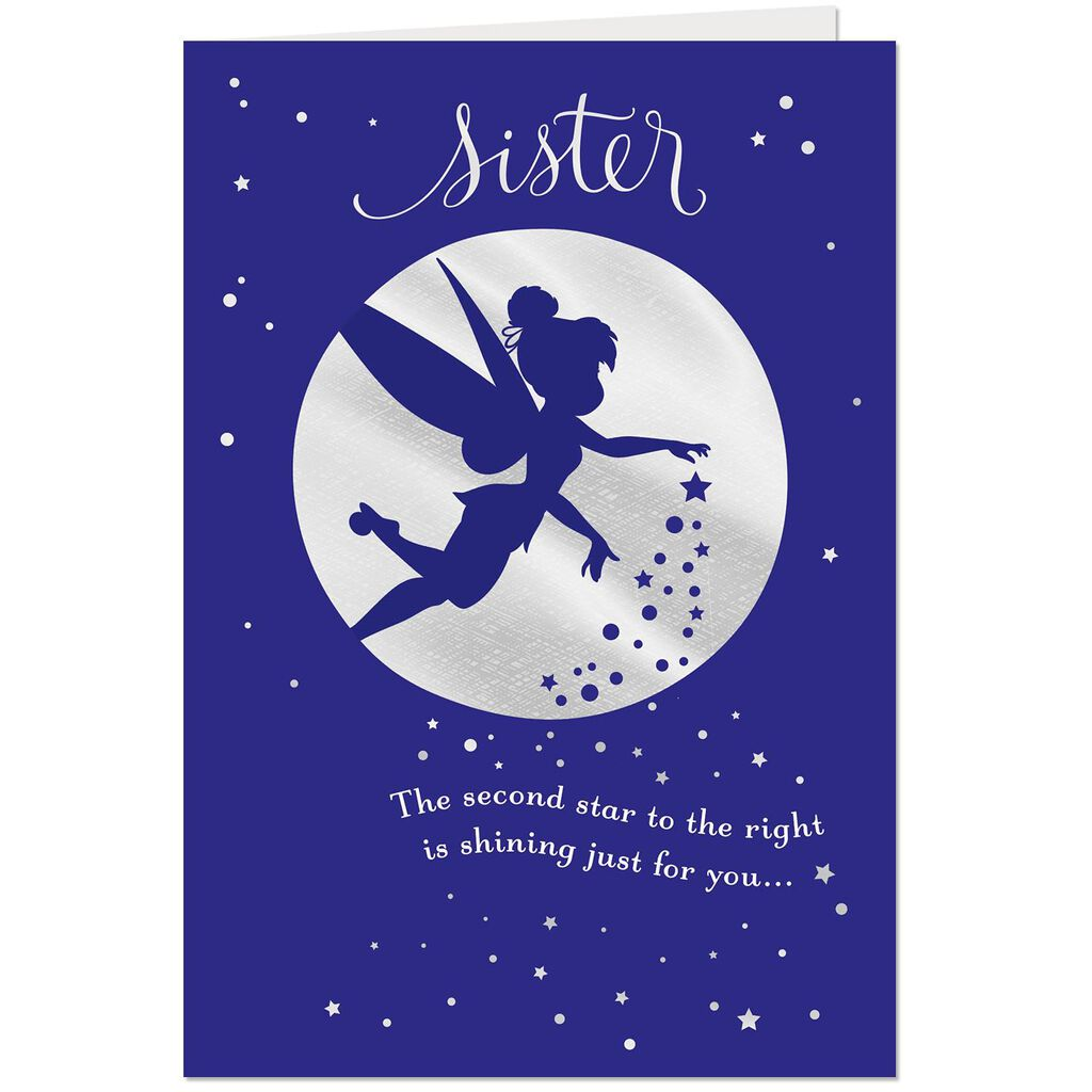 Disney Tinker Bell Every Wish Birthday Card For Sister