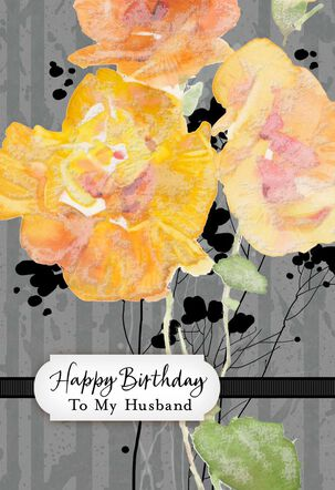 Bold Floral Birthday Card for Husband