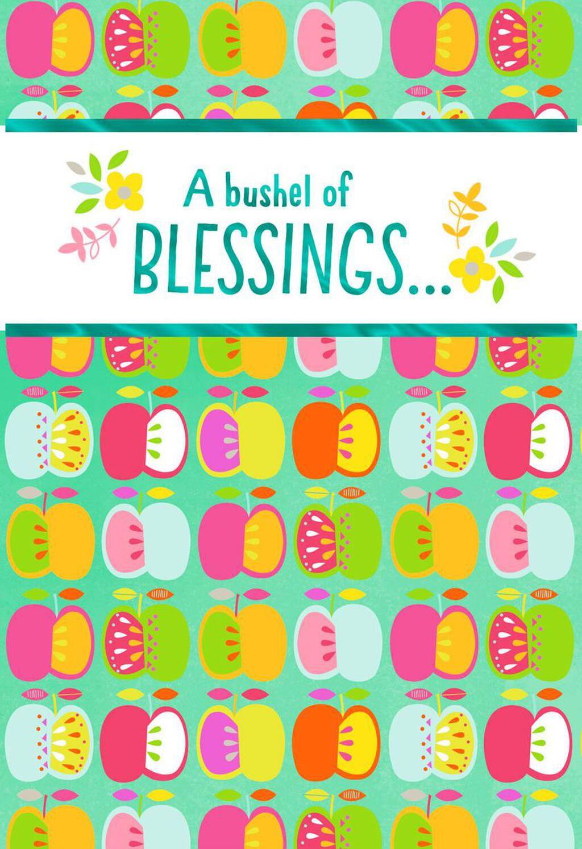 A Bushel Of Blessings Rosh Hashanah Card Greeting Cards Hallmark