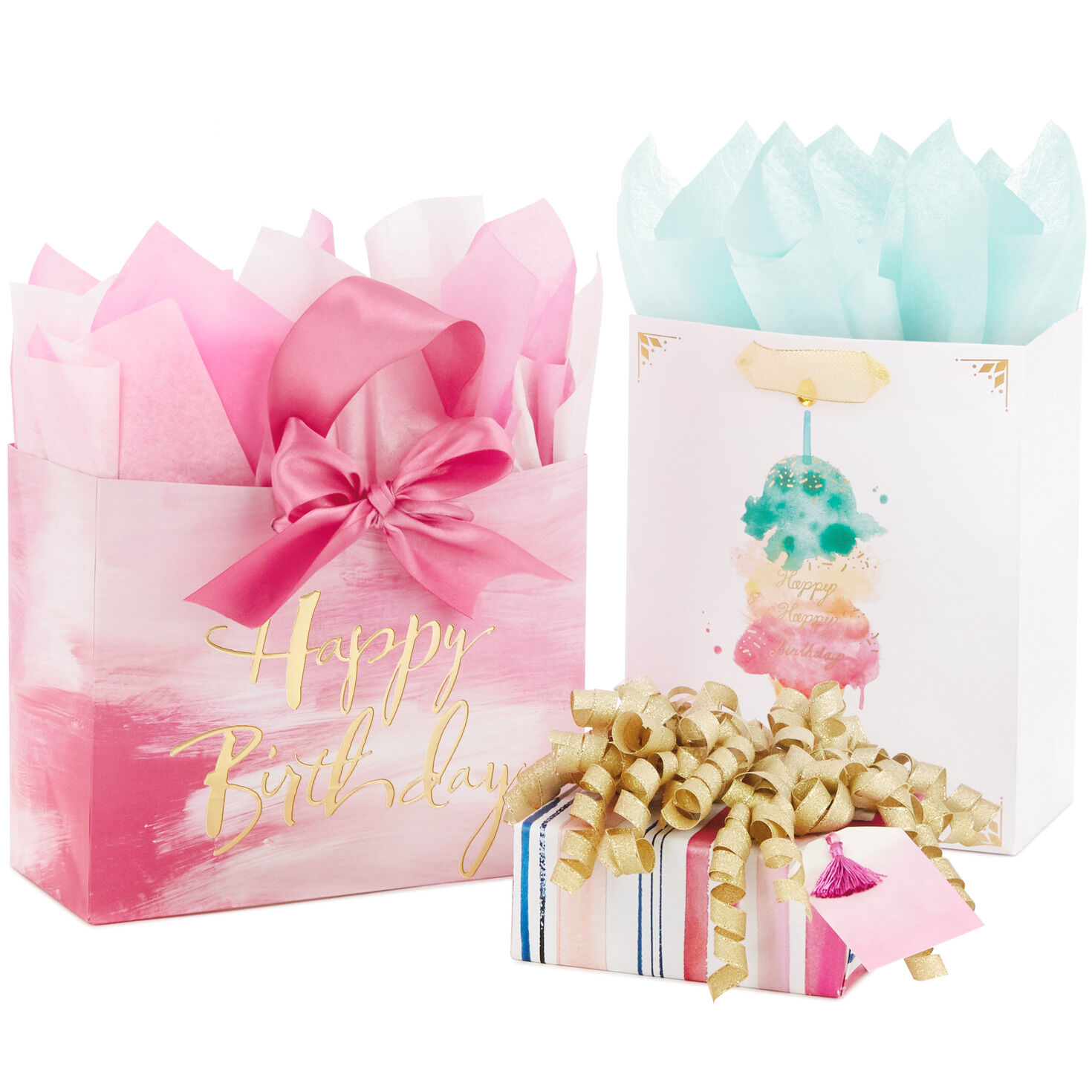 Birthday Ribbon Age 1 to 10 in Blue or Pink ideal for cakes and gift wrapping