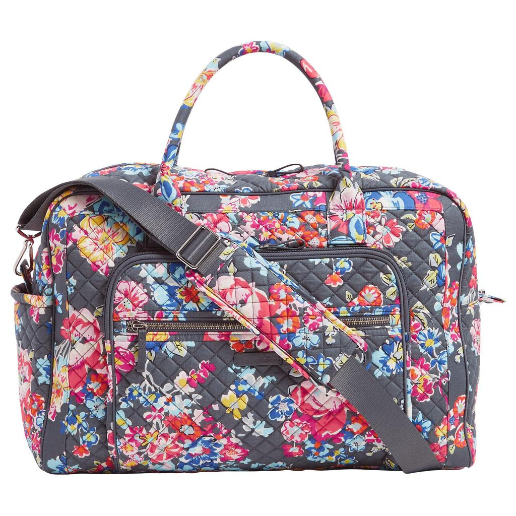 4673c7dd037b Vera Bradley Iconic Weekender Travel Bag in Pretty Posies - Travel ...