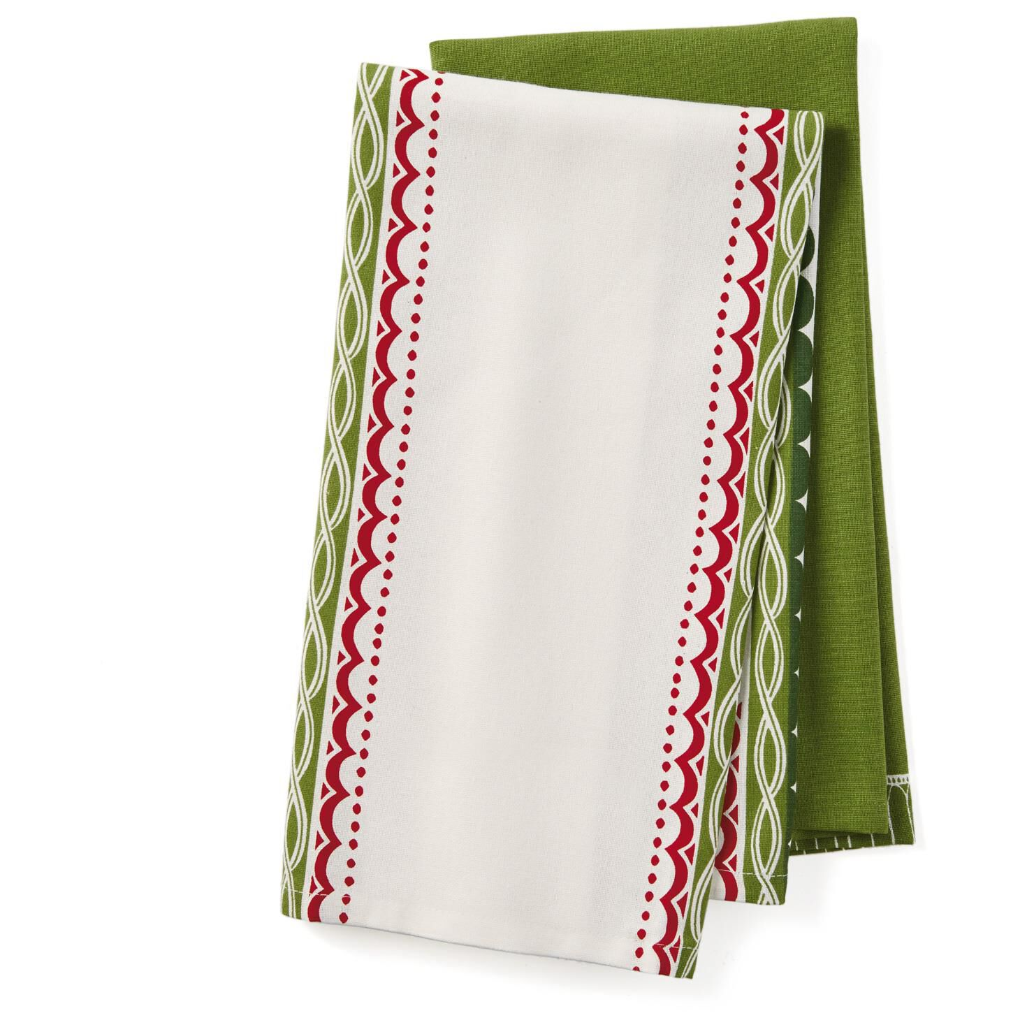 All I Want for Christmas Tea Towels, Set of 2 - Kitchen Linens ...